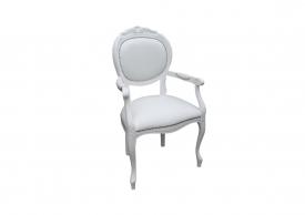 Krzesło Ludwik Biały #1