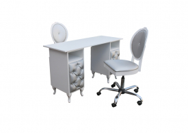 Elegancki Zestaw Kosmetyczny Stolik + Krzesła