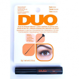 Klej do rzęs z witaminami - DUO Brush On Dark Adhesive with Vitamins 7g