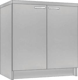System Modułowy SD 60 Szafka Dolna, Płyta Zwykła, szerokość 60 cm