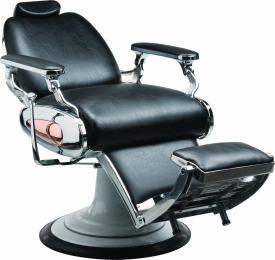 Fotel Fryzjerski Barber Tiger Męski Czarny W 48h