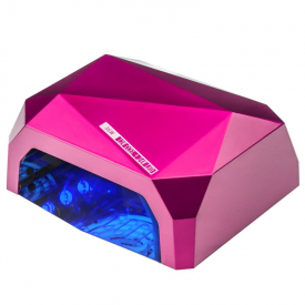 Lampa Diamond 2w1 Uv Led+Ccfl 36w Timer + Sensor Pink
