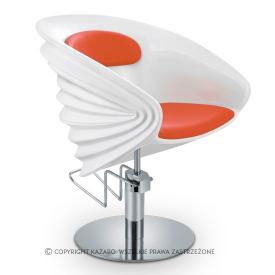 Fotel Fryzjerski Origami, Pomarańczowy