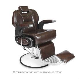 Fotel Fryzjerski Barber, Brązowy