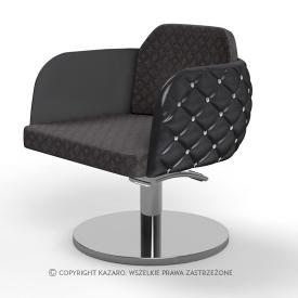 Fotel Fryzjerski Diamante, Czarny