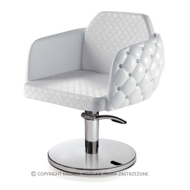 Fotel Fryzjerski Diamante, Biały