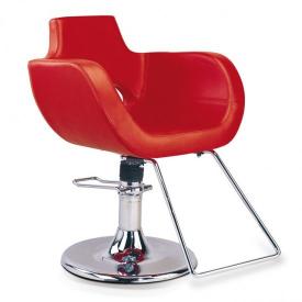 Fotel Fryzjerski B-12, Czerwony
