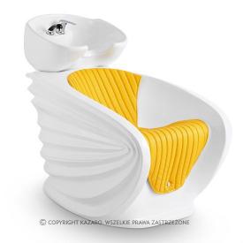 Myjnia Fryzjerska Origami, żółta