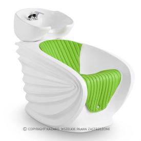 Myjnia Fryzjerska Origami, Biało-Zielona