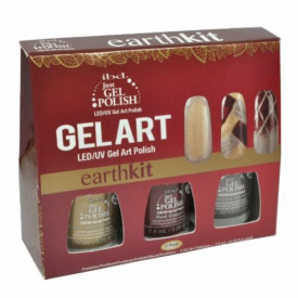 IBD Just Gel Polish Art Earth Kit - Zestaw Hybrydowy