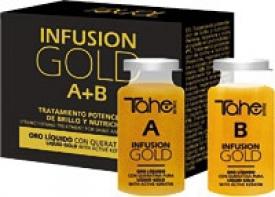Tahe Ampułki Regenerujące Z Aktywną Keratyną I Płynnym Złotem Infusion Gold (A+B), 2 x 10 ml