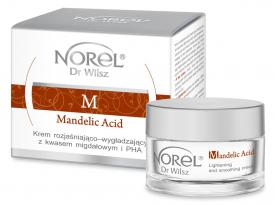 Norel Krem Rozjaśniająco - Wygładzający Z Kwasem Migdałowym I PHA Mandelic Acid, 50 ml