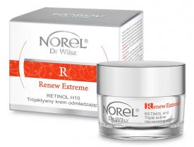 Norel Retinol H10 Trójaktywny Krem Odmładzający Renew Extreme, 50 ml