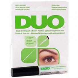 Klej do rzęs z witaminami - DUO Brush On Clear Adhesive with Vitamins 7g