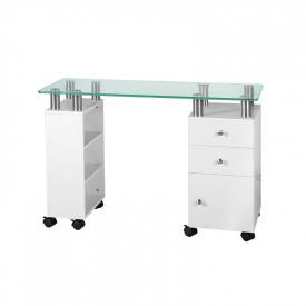 Biurko Glass 013C Białe