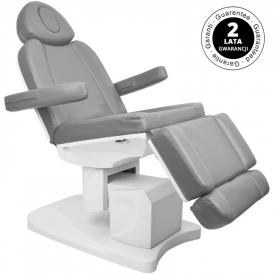 Fotel Kosmetyczny Elektr. Azzurro 708a 4 Siln. Szary