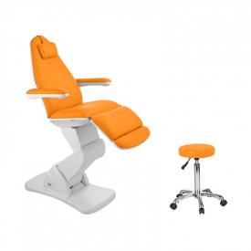 Fotel Kosmetyczny Elektryczny 2244 Pomarańczowy #1