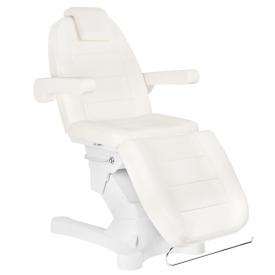 Fotel Kosmetyczny Elektr. A-207 White/Ivory (4 Silniki)