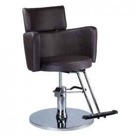 Fotel fryzjerski LUIGI BR-3927 brąz #4