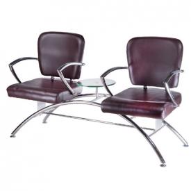Krzesło do poczekalni LIVIO brązowe BD-6709(1003)