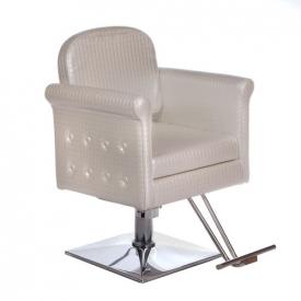 Fotel fryzjerski Carlo perłowy BM-256 #4
