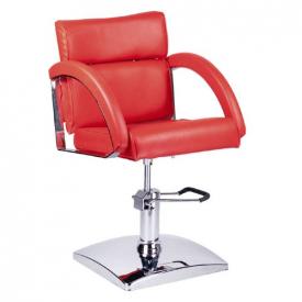 Fotel fryzjerski DINO czerwony BR-3920
