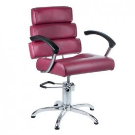 Fotel fryzjerski FIORE wrzosowy BR-3857