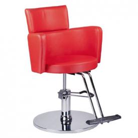Fotel fryzjerski LUIGI BR-3927 czerwony