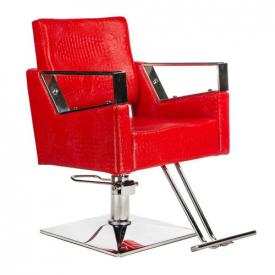 Fotel fryzjerski Roberto czerwony BM-203