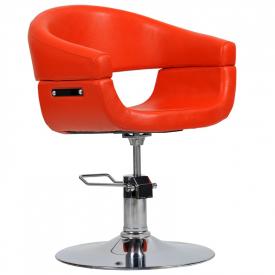 Fotel Fryzjerski Toscania Czerwony