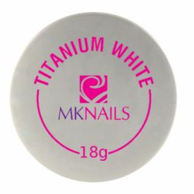 Mknails Żel jednofazowy titanium white, 18g