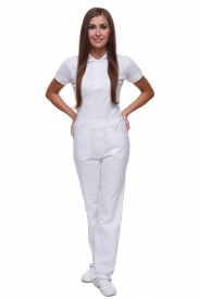 Spodnie T4028 PG Białe