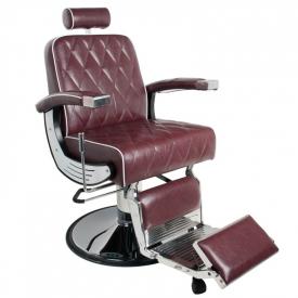 Gabbiano Fotel Barberski Imperial Bordowy