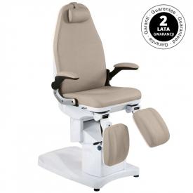 Fotel Podologiczny Elektr. Azzurro 709a 3 Siln. Cappuccino