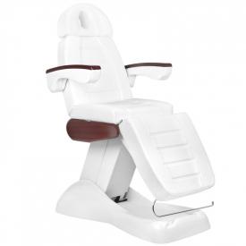 Fotel Kosmetyczny Elektr. Lux Biały/Mahoń 3m