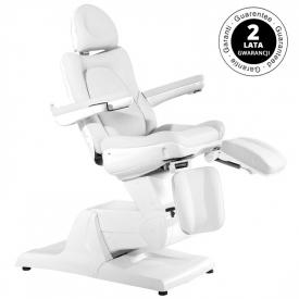 Fotel Kosmetyczny Elektr. Azzurro 870s Pedi 3 Siln. Biały