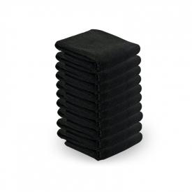 Ręcznik Z Microfibry 73x40cm 10szt Czarny