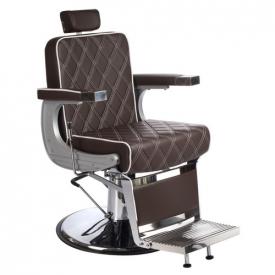 Fotel Barberski Lumber BH-31825 Brązowy Lux #1