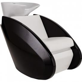 Myjnia Fryzjerska Reflection Misa Czarna Z Podnóżkiem I Masażem Shiatsu