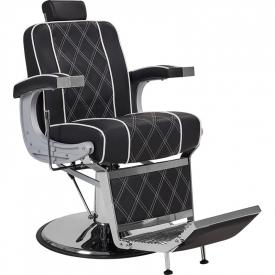 Fotel Fryzjerski Barber Borg Męski Czarny W 48h