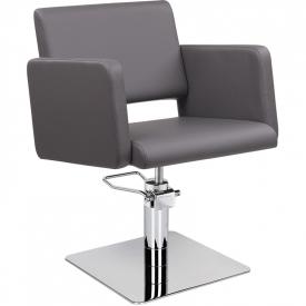 Fotel Fryzjerski Lea Szary Baza Kwadrat W 48h