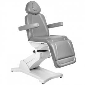 Fotel Kosmetyczny Elektr. Azzurro 869A Obrotowy 4 Siln. Szary
