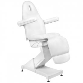 Fotel Kosmetyczny Elektr. Basic 158 3 Siln. Biały