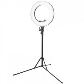 """Lampa Pierścieniowa Ring Light 18"""" 48W Led Czarna + Statyw #1"""