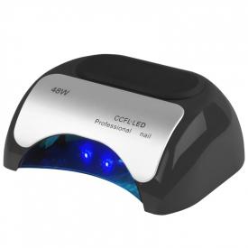 Lampa Professional 2w1 UV LED+CCFL 48W Timer+Sensor Czarna