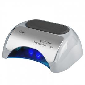 Lampa Professional 2w1 UV LED+CCFL 48W Timer+Sensor Srebna