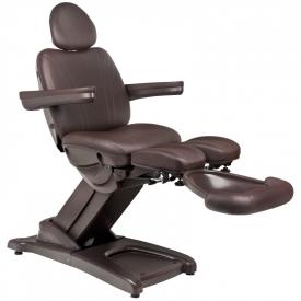 Fotel Kosmetyczny Elektr. Azzurro 872s Pedi-Pro 3 Siln. Brązowy