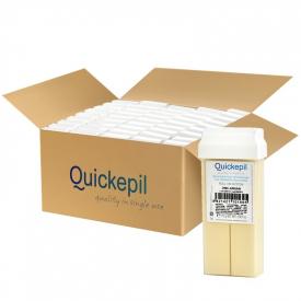 Quickepil 50 Szt. Wosk Do Depilacji Rolka Zink-Argan, 110 g