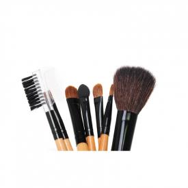 Zestaw Pędzli Do Makijażu 7 Elementów Czarne Etui