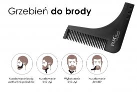 Grzebień Do Brody Fox Beard Barber Expert